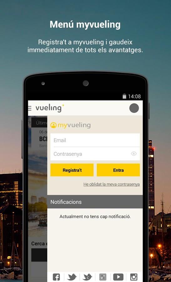 Vueling - Vols barats: captura de pantalla