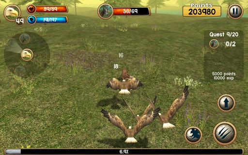 Wild Eagle Sim 3D captures d'u00e9cran 2