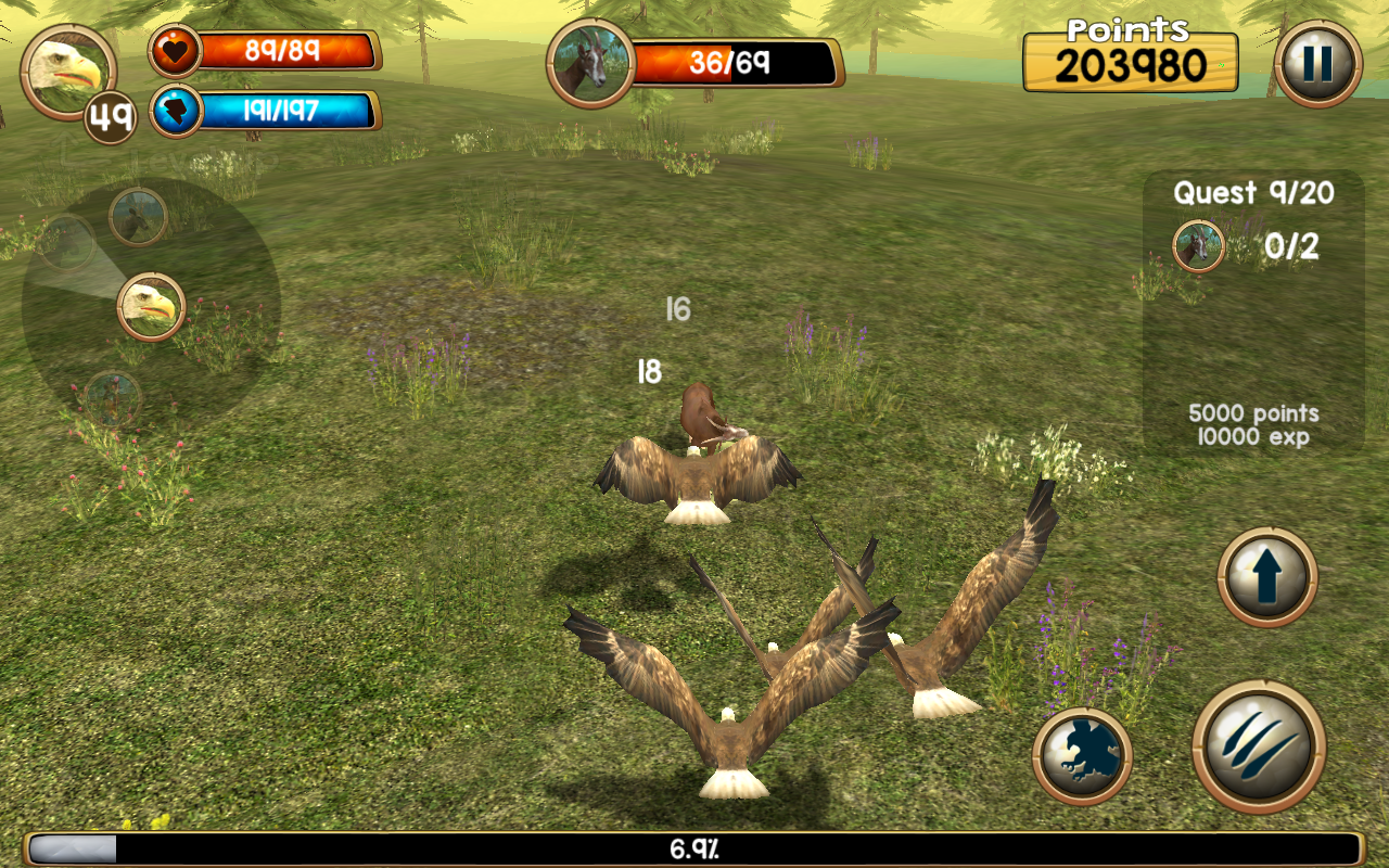 wild eagle sim 3d android apps on google play