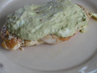 Nelda's Spicy Chicken With Avocado Sauce Recipe