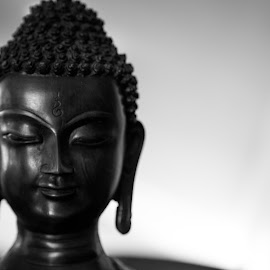 Buddha by Karthikeyan Chinnathamby - Black & White Objects & Still Life ( budha, white, bw, culture, budhism, black, statue, still life, portrait, religion, object )