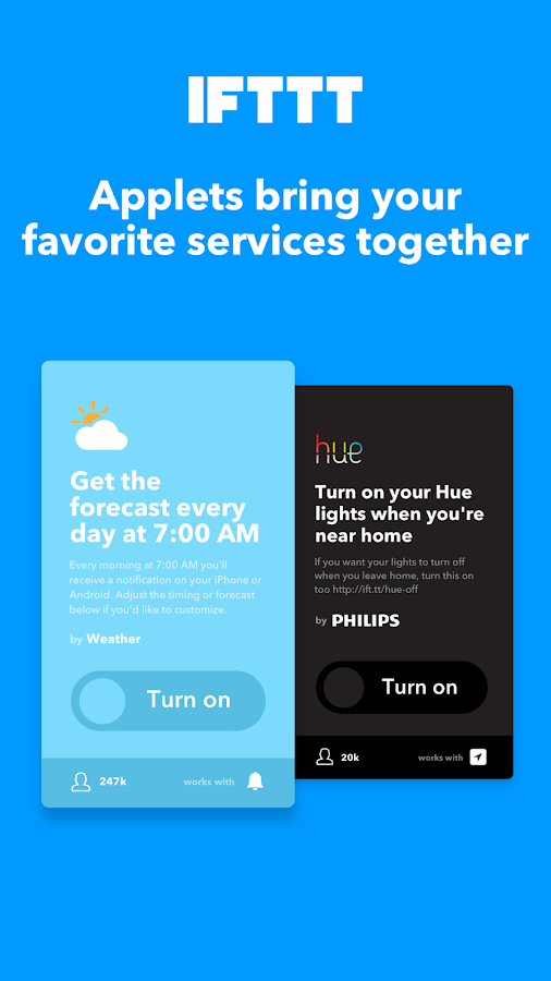 IFTTT- screenshot