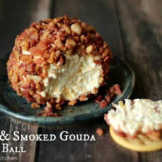 Bacon & Smoked Gouda Cheese Ball (Nuts Optional).