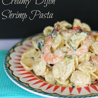Creamy Dijon Shrimp Pasta