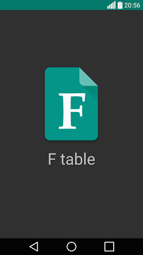 F table