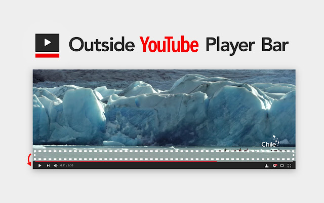 Outside YouTube Player Bar