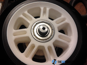 Photo: Center of the motor's axle drilled