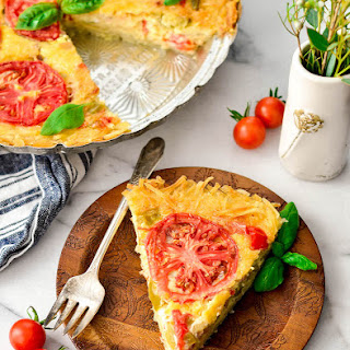 Gluten-Free Quiche with a Hash Brown Crust.