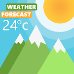 Simple weather forecast & Current Live Temperature icon