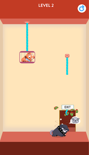 Rescue Kitten - Rope Puzzle apkmind screenshots 4