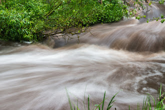 Photo: Experiments with long exposure, stream above Lichen Falls; PEEC Waterfall Hike (0.6-s exposure)