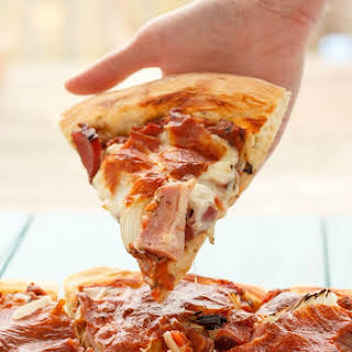 Leftover Ham Pizza.