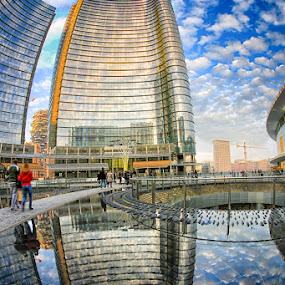 Milano Porta Nuova by Luca Libralato - City,  Street & Park  Skylines ( porta nuova, skyline, milano, italy, pwcskylines )