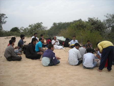 Photo: Accomodate for the class in Chandipur beach