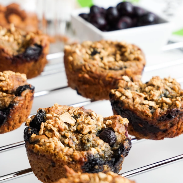 Healthy Vegan Blueberry Muffins