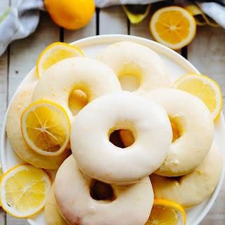 Meyer Lemon Baked Doughnuts.