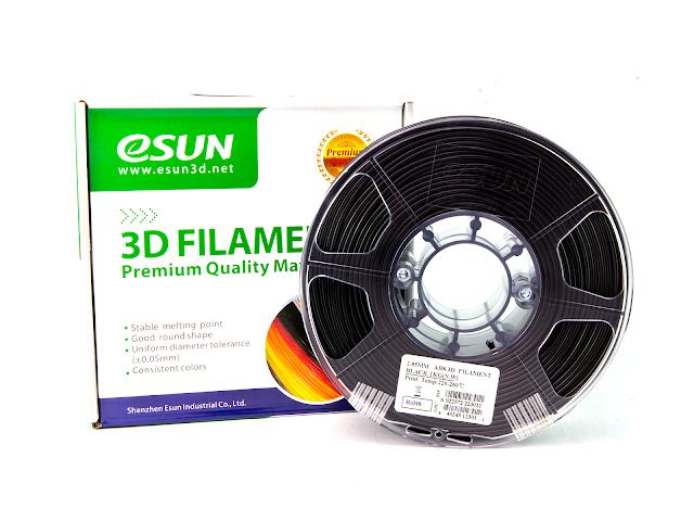 eSUN Black ABS Filament - 2.85mm (1kg)