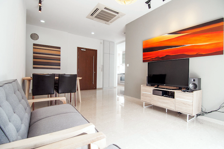 Bright living area at Toa Payoh Apartments, Balestier