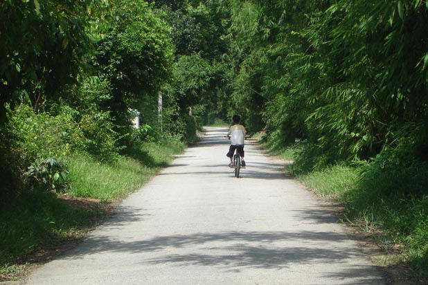 Biking in Hue