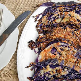 Parmesan & Garlic Cabbage Steaks.