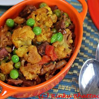 Cauliflower With Purple Sweet Potatoes – Ranga Alu Diye Phulkopi [Vegan, Gluten-Free]