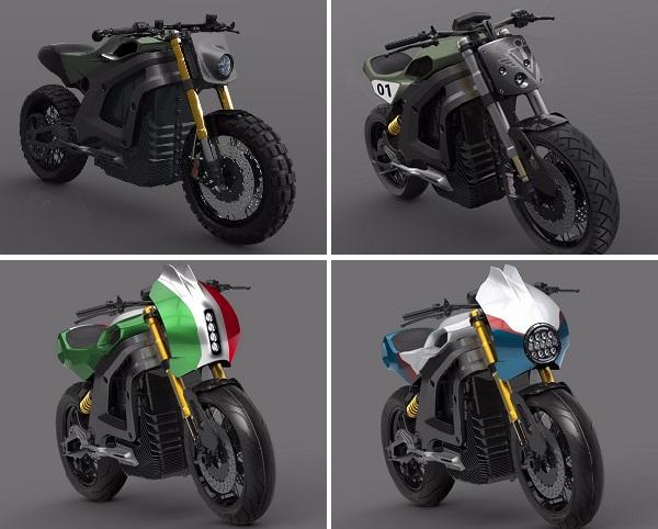 12 частей, которые составляют тело мотоцикла, могут быть настроены по форме и цвету, что дает райдерам огромный выбор