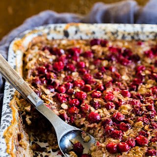 Baked Cranberry Oatmeal.