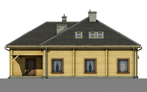 D176 - Anna wersja drewniana - Elewacja prawa