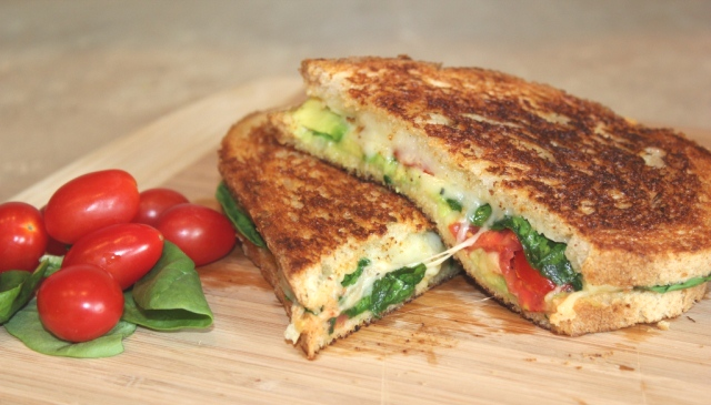 The Best Grilled Cheese Ever {Gruyere, Spinach, Avocado & Tomato} Recipe