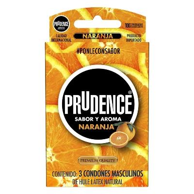 preservativo prudence naranja x3 und