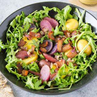 "Warm Potato Salad + Honey Mustard Vinaigrette {aka ""Easter Basket Salad"" }"