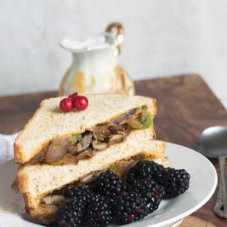 Vegan Philly mushroom Sandwich