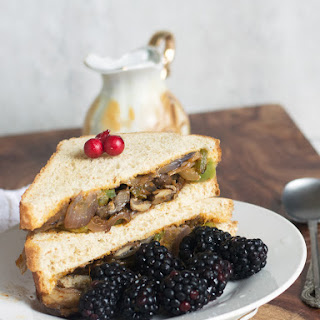 Vegan Philly mushroom Sandwich.