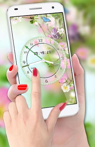 Flower Clock Live Wallpaper 2018: Luxury Watch 3D 2.0 screenshots 1