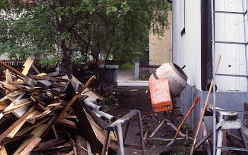 Photo: 1992 Sopukatu 17, remontti