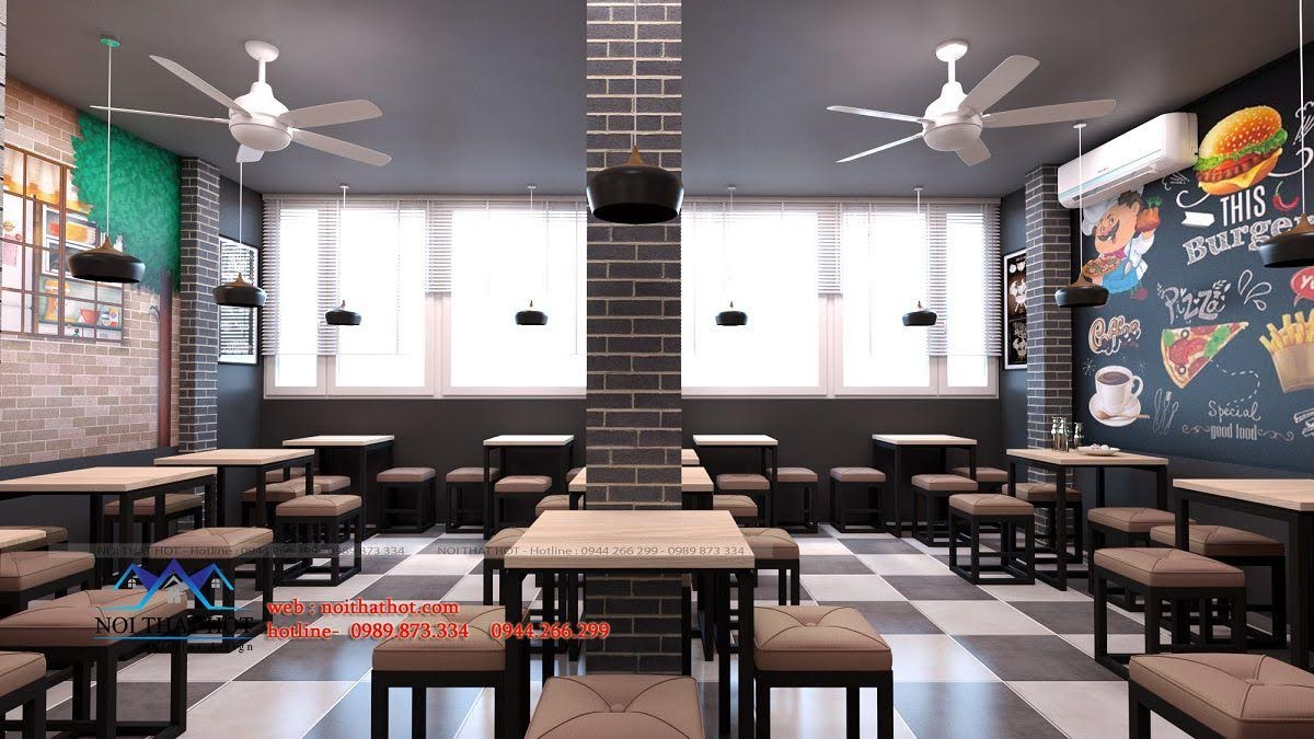 thiết kế quán ăn nhanh chuyên nghiệp
