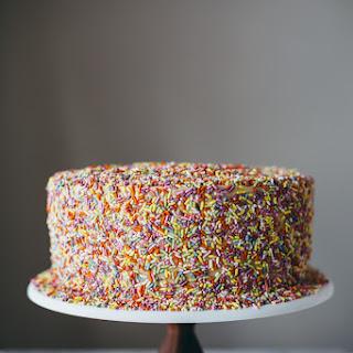 Chocolate Peanut Butter Sprinkle Cake