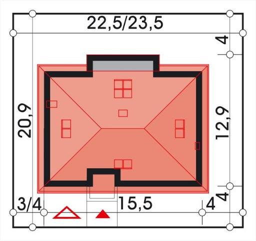 Bartek wersja B z pojedynczym garażem - Sytuacja