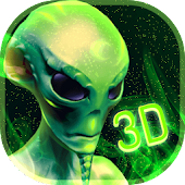 Neon Alien Technology 3D