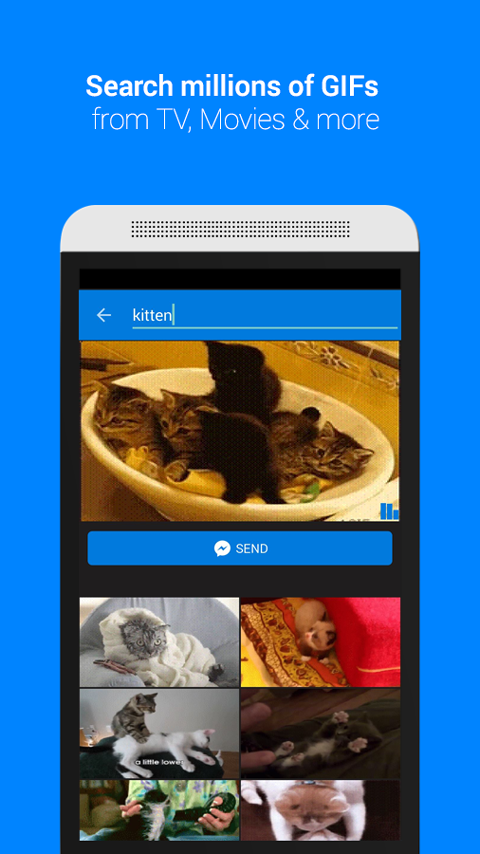Screenshots of GIF Keyboard by Tenor for iPhone