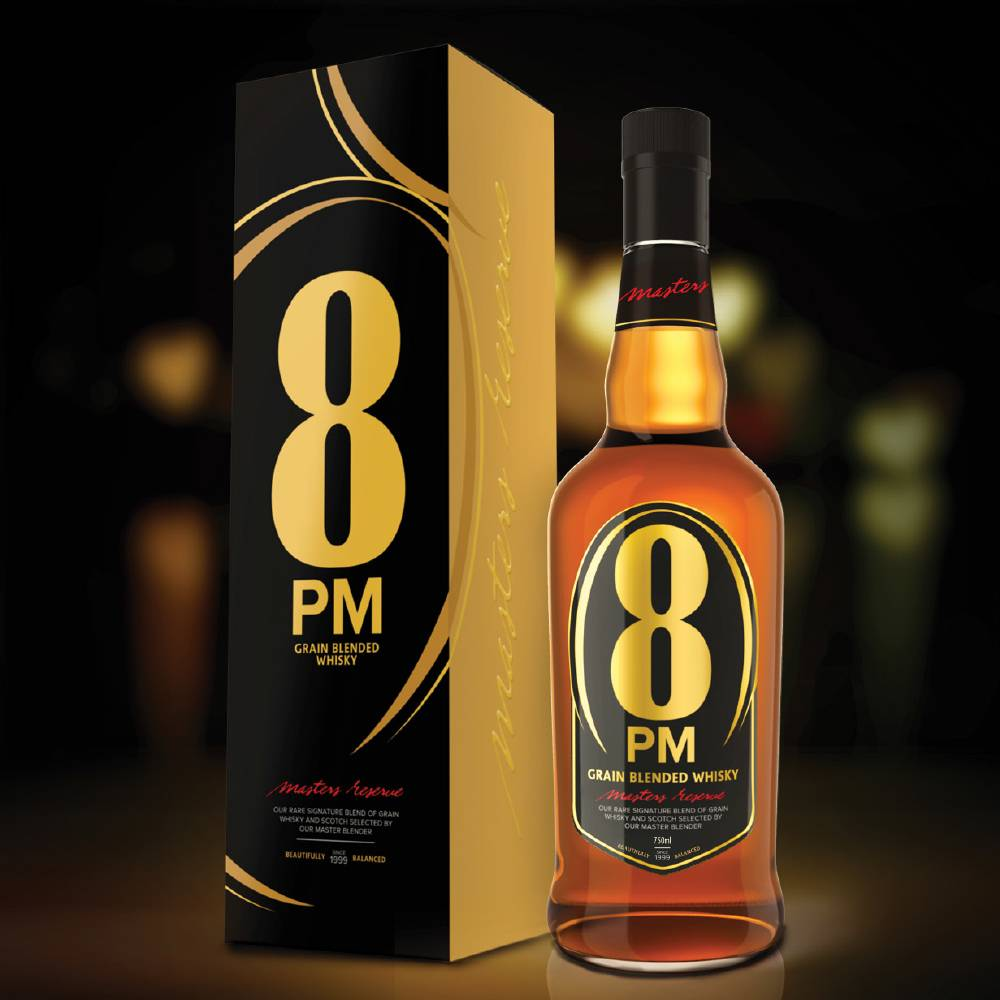 best-whisky-brands-india-8-PM-Price-Rs. 300 for 750 ml.