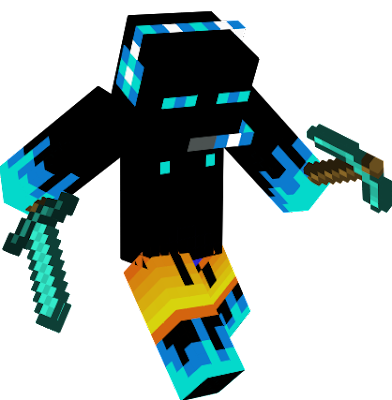 A cool ice enderman Ready to catch some sun and a pool party!