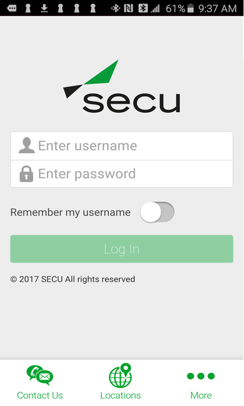 SECU Mobile-Smartphone- screenshot