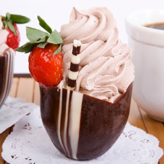 Chocolate-Strawberry Mousse.