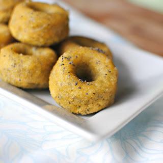 Glazed Almond Poppy Seed Cookie Doughnuts