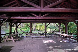 Photo: Picnic pavilion interior at Allis State Park, by Gary Bouchard
