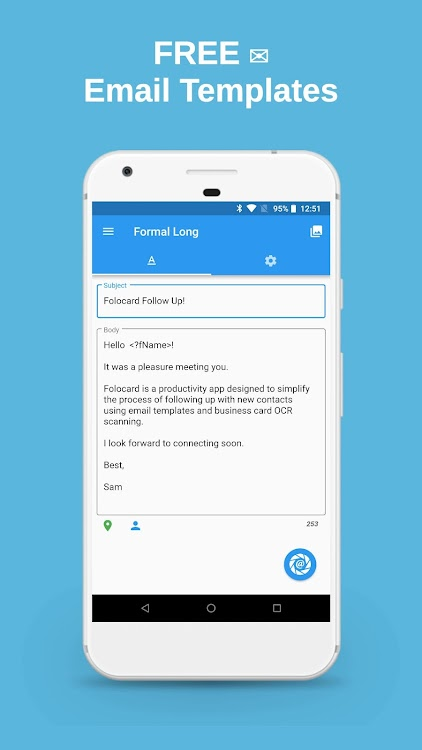 Folocard Follow Up Email Business Card Scanner Android