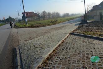Photo: Budowa chodnika przy ul. Norwida w Słomnikach