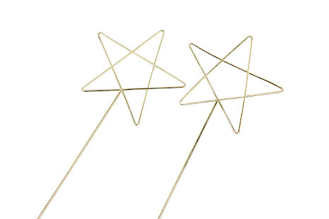 Stjärna Metall Guld - Stick