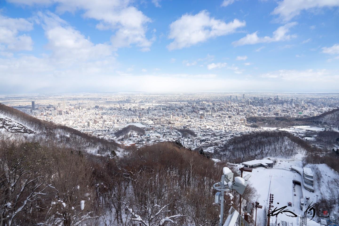 札幌の街を一望